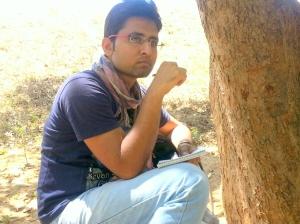 writer pose